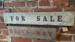 Grungy wood signs