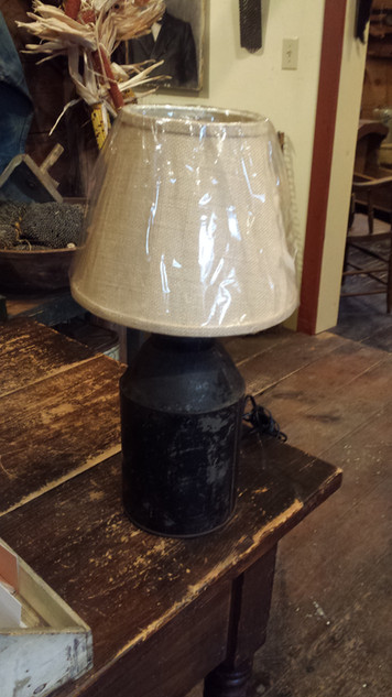 Tin container lamp