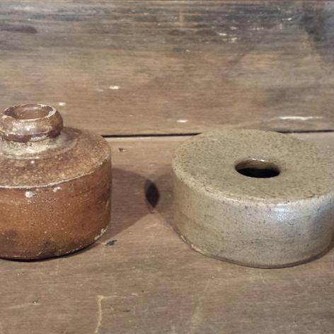 Stoneware inkwells