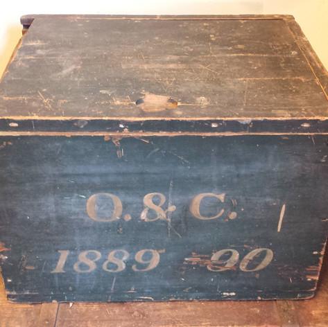 1889 - 90 slide top document box
