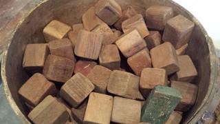 Wood child's building blocks.