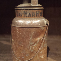 Tin coffee tin in original surface