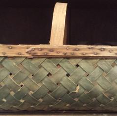 Basket in old green