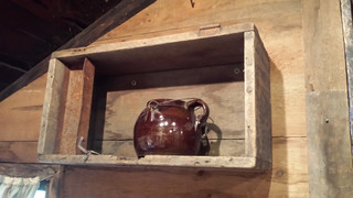 Primitive box with rusty til