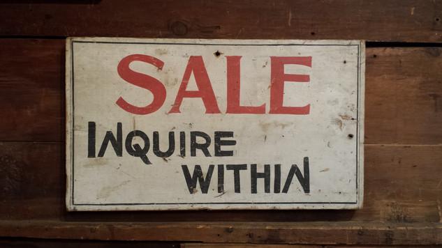 Wood Sale Sign