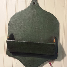 Wall box in old green