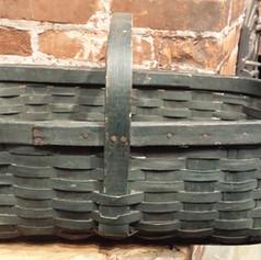 Splint basket in old blue/green