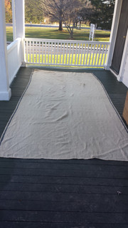 Woven rug, made on a loom