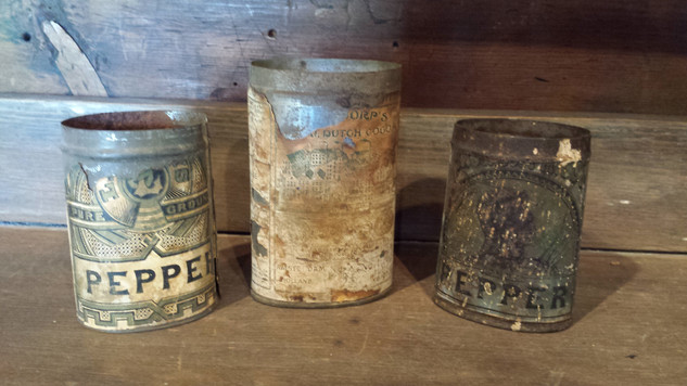 Set of 3 small paper label tins