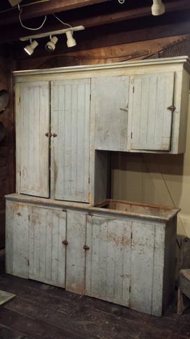 Two piece wainscoted kitchen