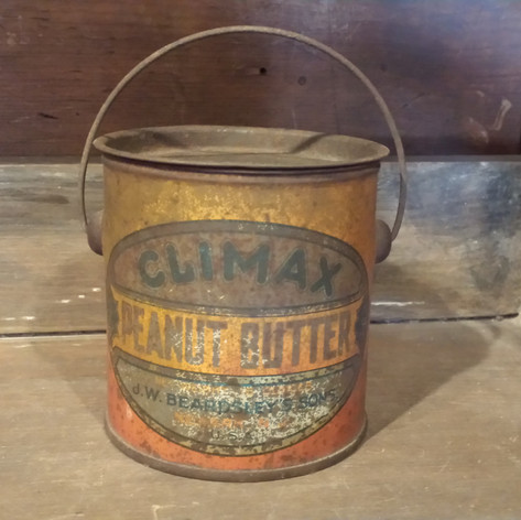 Little peanut butter tin with lid