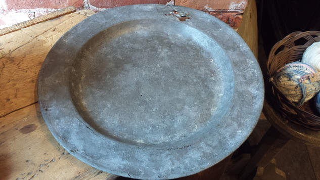 """17"""" worn pewter charger"""
