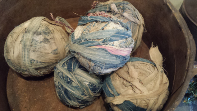 Blue Rag balls