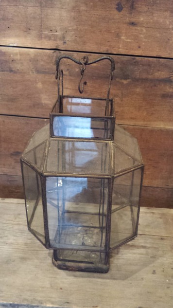 Early lantern with old glass
