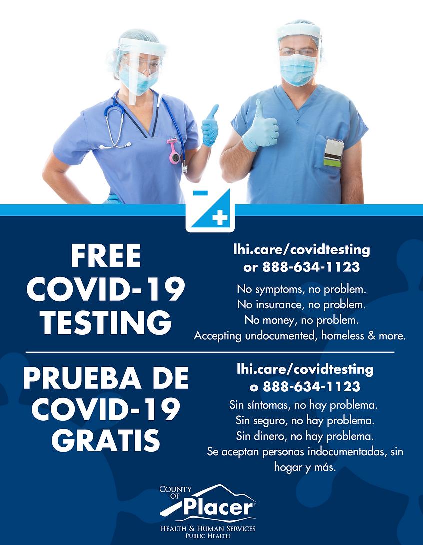 Free Covid testing call 888-634-1123