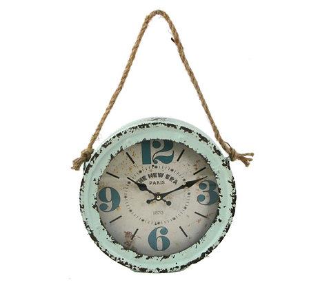 Sea Foam Rope Clock