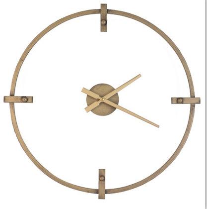 Antique Gold Metal Clock 8189
