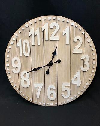 Natural Wood Clock