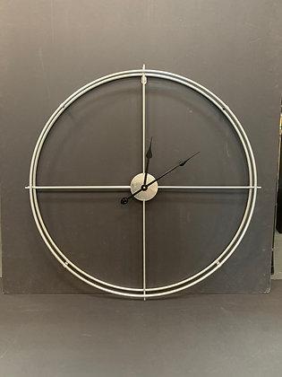 Silver Metal Clock 8261