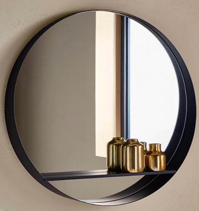 Black Shelf Mirror