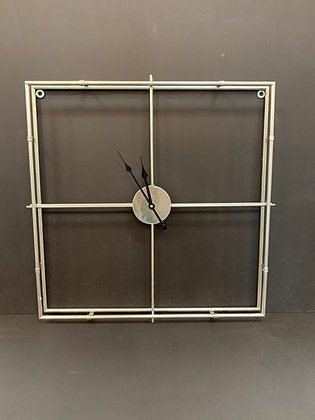 Silver Metal Clock 8263