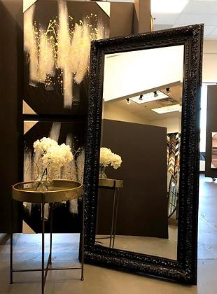 Ornate Black Leaner Mirror