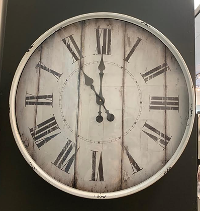 White Antique Clock