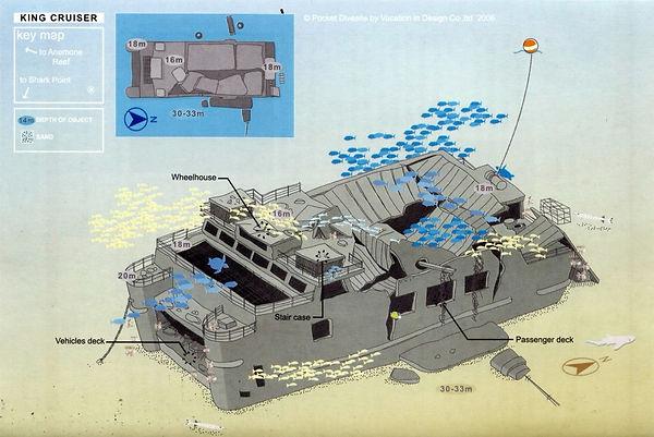 King Cruiser Dive Map - Liveaboards Phuket