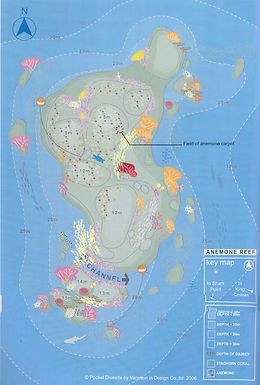 Phuket Liveaboards - Dive Map Anemone Reef
