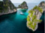 Koh Haa Lagoon aerial view Liveabaords Phuket