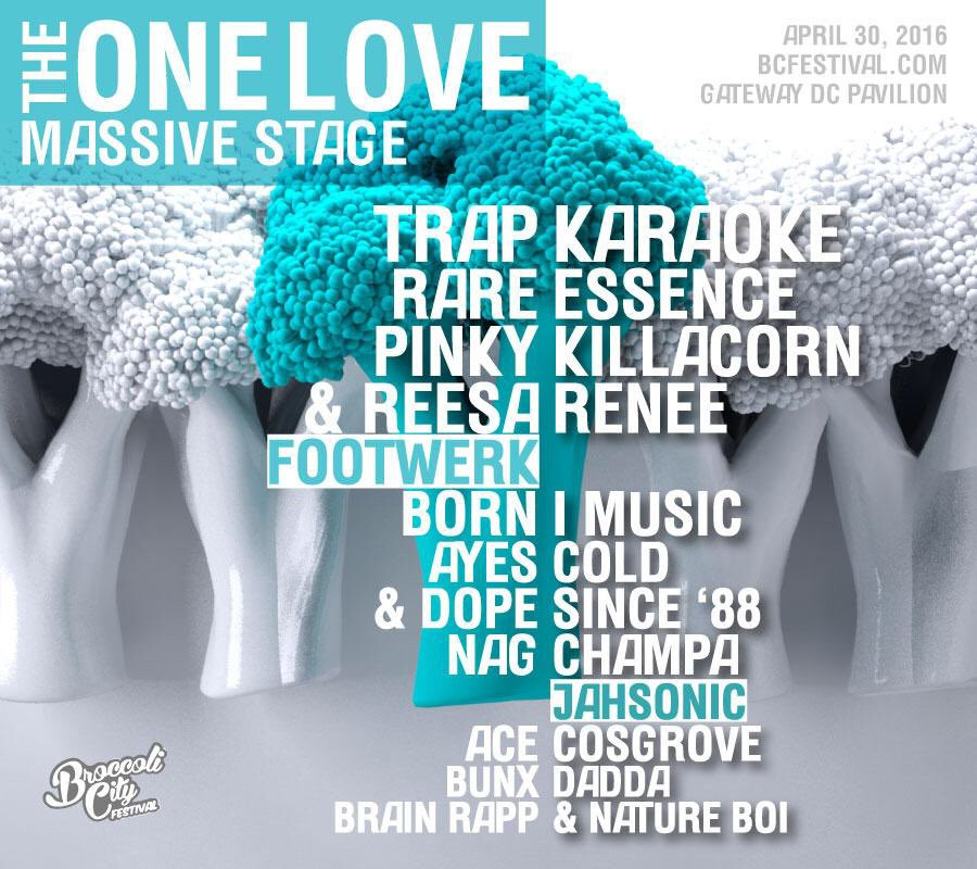 The One Love Massive Stage
