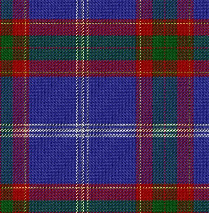The Russo-Scottish Tartan (image copyright of the Scottish Register of Tartans)