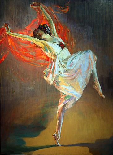 Anna Pavlova by Sir John Lavery, Glasgow Kelvingrove Art Gallery
