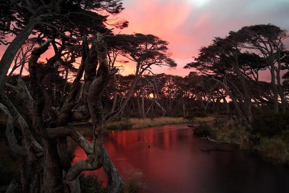 Amanecer en el rio calavera,Aldea Tierra
