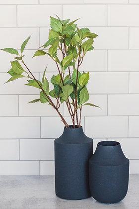 Textured Navy Vase