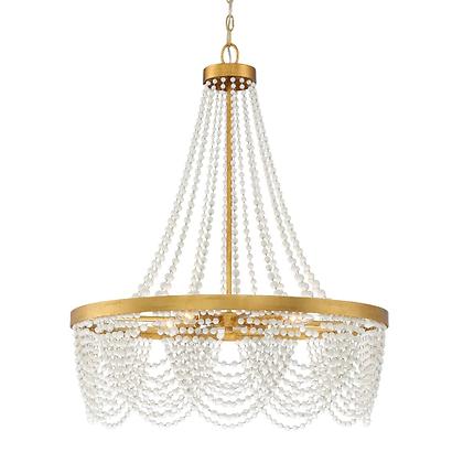 Antique Gold 4 Light Chandelier