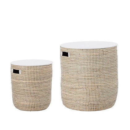 Seagrass Storage End Table (Set of 2)