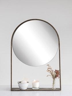 Shelf Mirror - Antique Brass