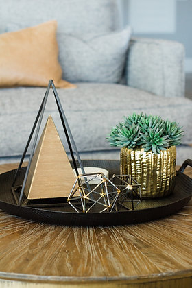 Gold & Black Geometric Triangle