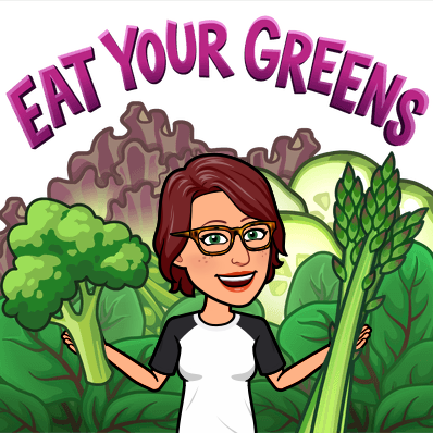 PT bitmoji eat your greens