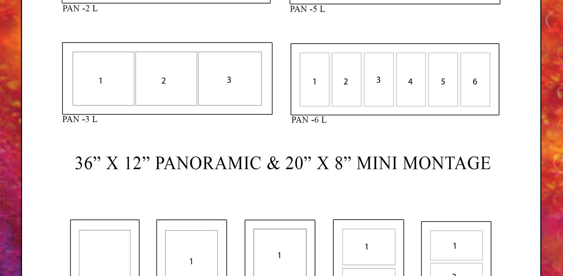 Panoramic Montage Templates