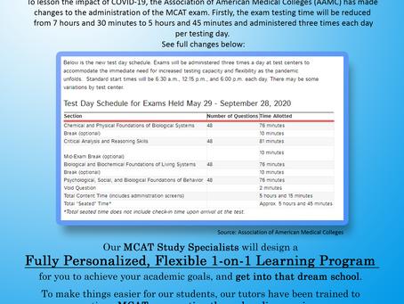 COVID-19 MCAT Testing Changes