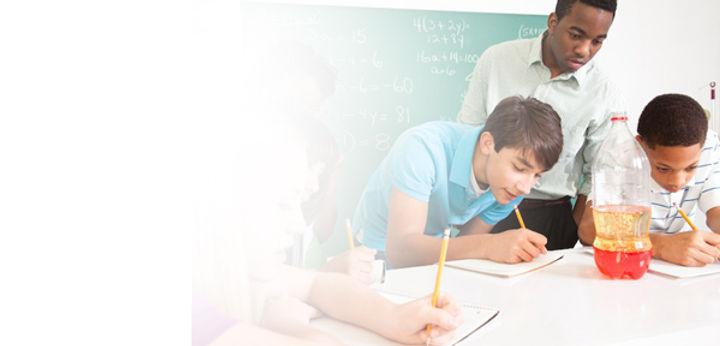 students learning summer program