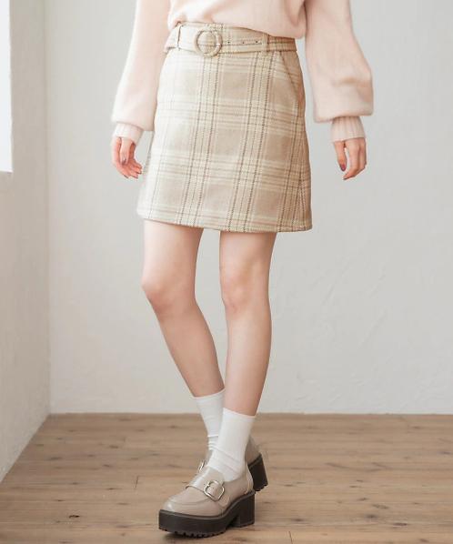 Heather-格仔迷你裙[J017]