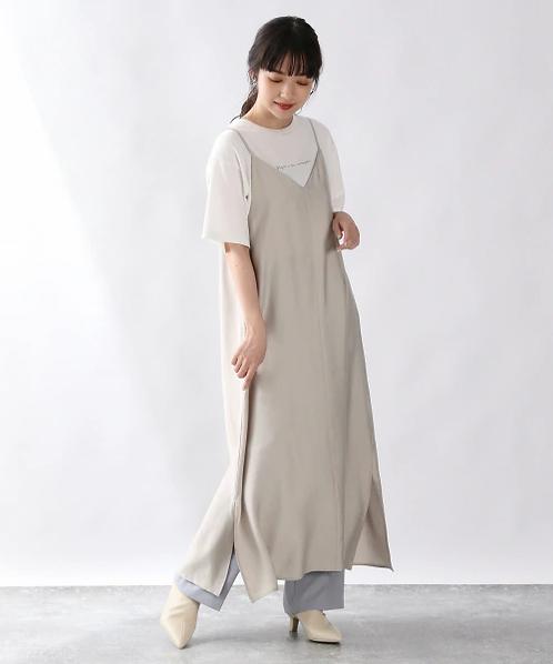 Lowrysfarm-人造絲背面緞帶多色連衣裙[H012]
