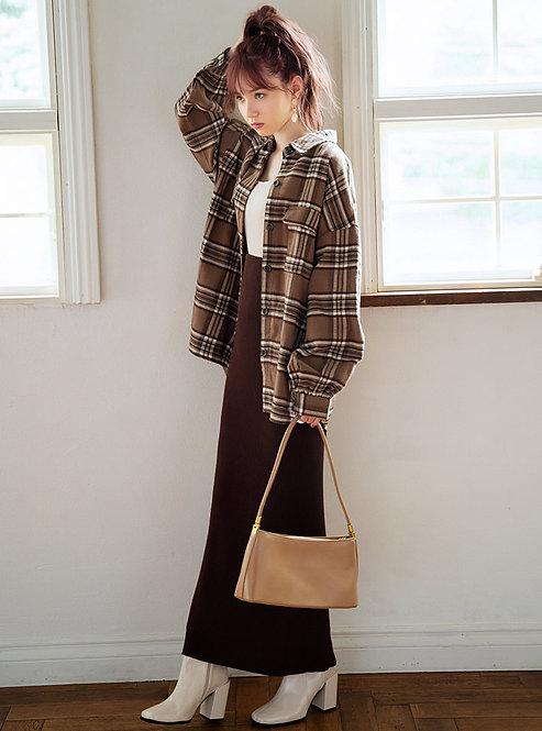 GRL-羅紋針織長裙 [C038]