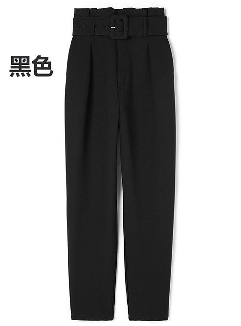GRL-方形搭扣腰帶錐形褲[C041]