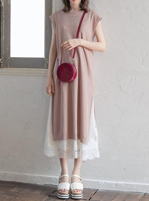 GRL-華夫格蕾絲針織連身裙[C020]