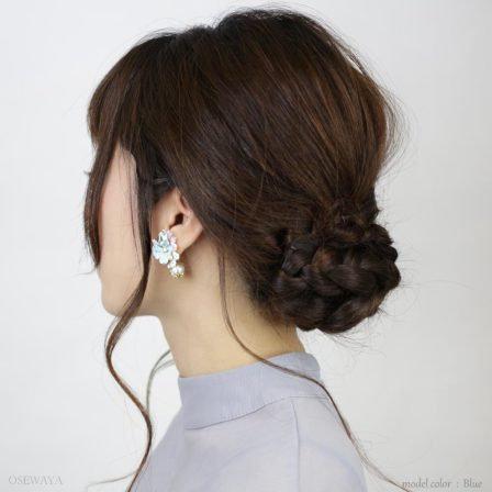 Osewaya-乾花系列-粉彩乾花棉珍珠耳環♥ [3色入][H010]
