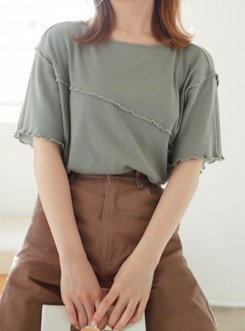GRL-百搭荷葉邊襯衫[C011]